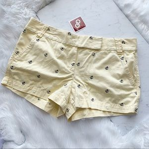 J.Crew • Anchor Pale Yellow Shorts